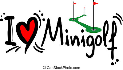 Minigolf love - Creative design of minigolf love