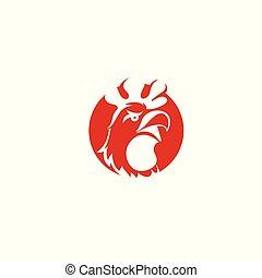 minimal chicken logo Vector illustration.