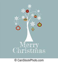 Minimal Christmas Tree Card