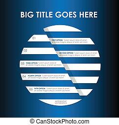 Minimal Circle infographics