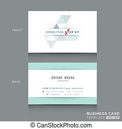 Minimal clean triangle design business card Template - ...