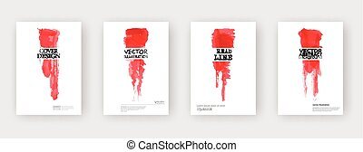 Minimal covers design. Cool paint brush. Vector illustration