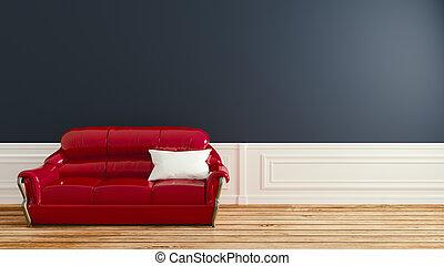 Minimal, Empty room interior design, 3d rendering