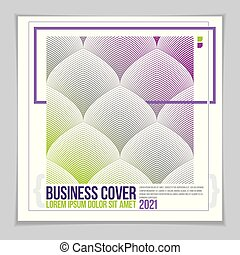 Minimal flyer, booklet, annual report cover template. Web, commerce or events vector graphic design template. Cover with minimal design.