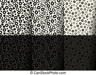 minimal geometric seamless pattern. fun chaos geometry repeatable motif for fabric, wrapping paper, background, web and print.