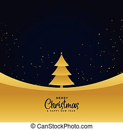 minimal golden merry christmas greeting background