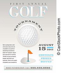 Minimal Golf Tournament Illustration - A minimal...