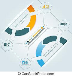 Minimal infographics 3d shadow design. Vector illustration...