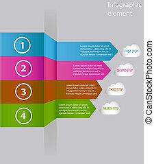 Minimal infographics. Arrow. Vector illustration