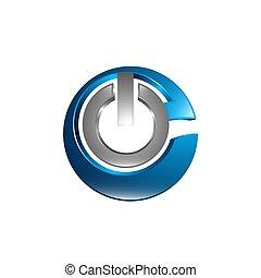 Minimal line design logo, business icon, branding emblem, Power graphic logo, icon, symbol, Vector