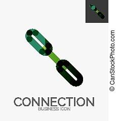 Minimal line design logo, chain icon - Minimal line design...