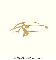 minimal, logo, av, bil, vektor, illustration