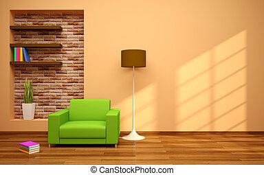 Minimal modern interior - minimal modern interior in beige...