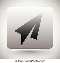 Minimal Paper Plane Icon. Air, Flight, Quickness concepts.      Minimal Paper Plane Icon. Air, Flight, Quickness concepts.