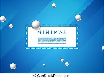 minimal, perles, argent, résumé, fond, perle bleue