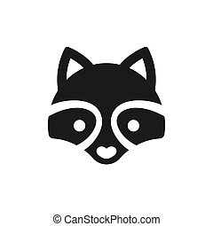 Minimal Raccoon icon - Minimal raccoon icon or logo...
