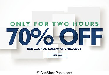 minimal sale discount voucher banner template design