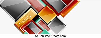 Minimal square banner abstract background