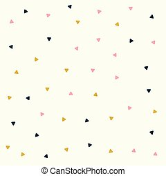 minimal triangle pattern design in pastel colors