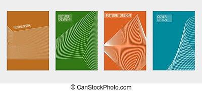 Minimal Vector covers design. Cool halftone gradients....