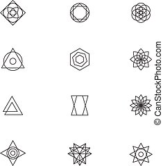 Minimal vector line logo marks