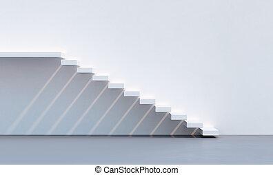 minimalism, スタイル, 階段