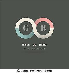Infinity Symbol Wedding Invitation