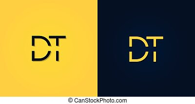 Minimalist Abstract Initial letter DT logo. This logo incorporate with abstract letter in the creative way.It will be suitable for which company or brand name start those initial.