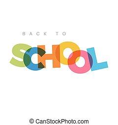 Minimalist back to School banner