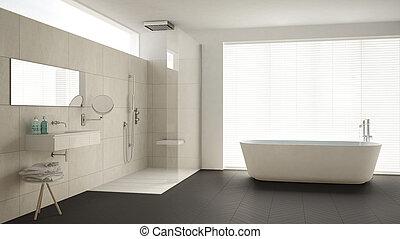 Fliesenmuster Dusche minimalist badezimmer klassisch dusche boden graue