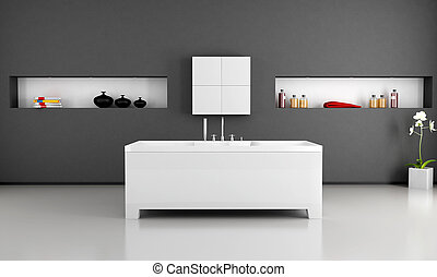 minimalist, badkamer