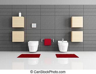 minimalist, badrum