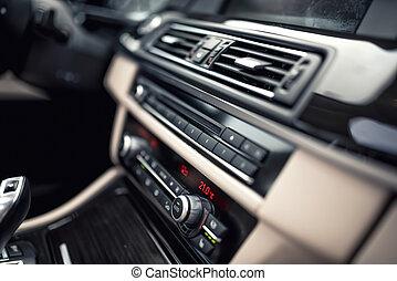minimalist, begrepp, bil, nymodig, -, system, kontroller, ...