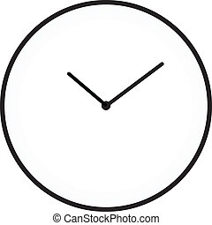 Minimalist Clock Isolated On White
