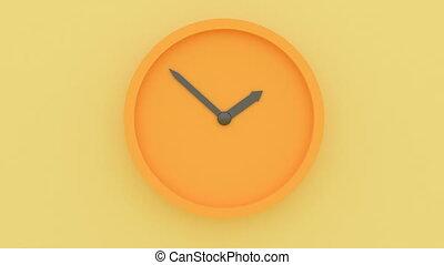Minimalist clock wall. Design home decor. Time concept. ...