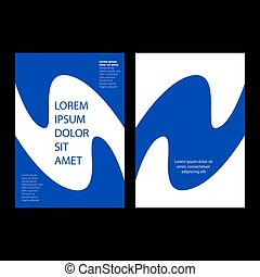 Minimalist Cover page design with white and blue colors