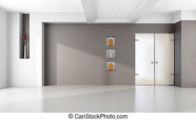 Minimalist empty lounge