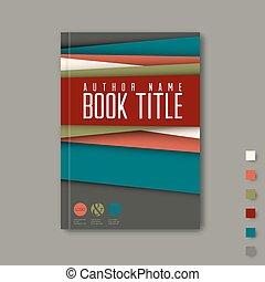 minimalist, /, flieger, design, schablone, broschüre, buch
