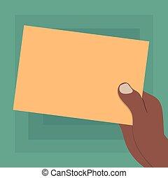 minimalist, grafik, plan, besitz, geschäftsfarbe, freigestellt, analyse, hu, papier, vektor, design, werbung, schablone, leer, gezeichnet, hand, präsentieren, leerer , pappe