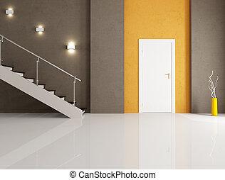 minimalist home entrance - minimalist entrance with white...