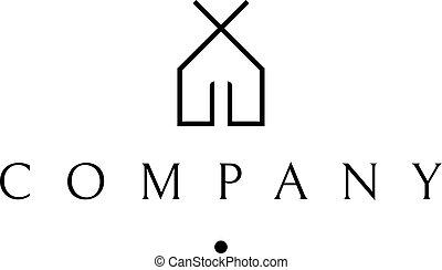 Minimalist house vector logo