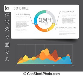 minimalist infographic dashboard template - Simple...