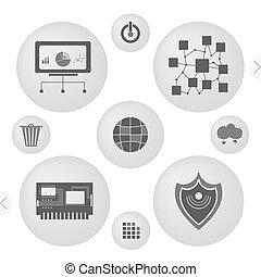 minimalist interface icons - Minimalist Interface Icons Set...