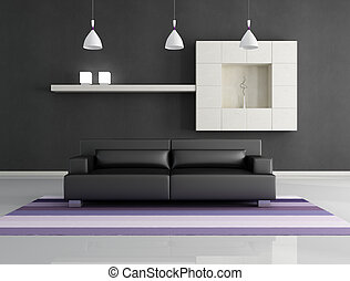 minimalist interior - minimalist black and white interior -...