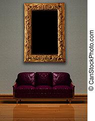 Minimalist interior visualization.