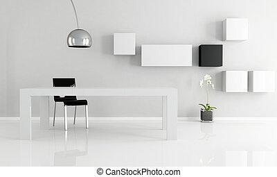 minimalist, kamer, het dineren