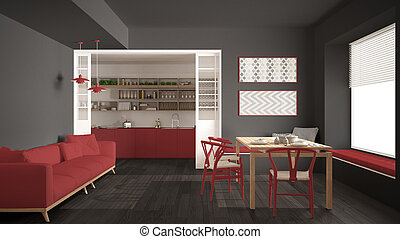 graue zimmer rotes lebensunterhalt graue bild clipart suche illustration. Black Bedroom Furniture Sets. Home Design Ideas