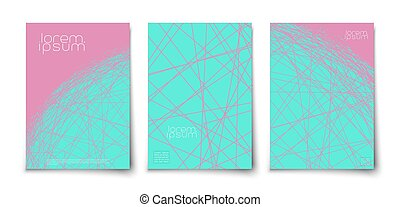 Minimalist lines geometric abstract background