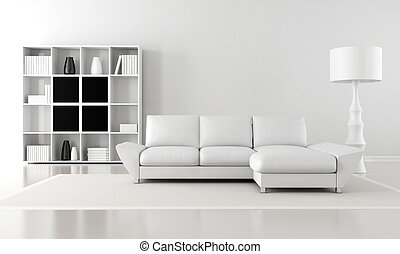 minimalist lounge - black and white minimalist living room...