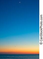 Minimalist ocean sunset